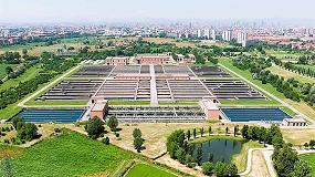 Foto de Aquavista Plant, la solución digital de Veolia, elegida para la planta de aguas residuales de Nosedo, en Milán