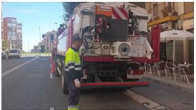 Foto de Maropsa entrega un contenedor de asfalto en caliente a la UTE San Gregorio-Martobar