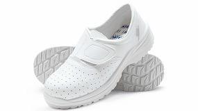 Foto de Brisa S1 Blanco Perforado: calzado de descanso antibacteriano y con diseño ergonómico
