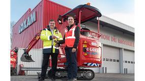 Foto de Primera miniexcavadora eléctrica JCB entregada a Loxam