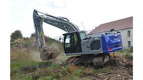 Foto de La empresa Rental' R emplea la primera excavadora sobre cadenas Liebherr R 924 G8 de la región Île-de-France