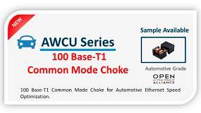 Foto de Nueva serie AWCU '100 Base-T1 Common Mode Choke' para aplicaciones de automoción