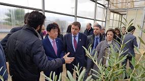 Foto de Planas y el director general de la FAO visitan el Campus Agroalimentario ceiA3