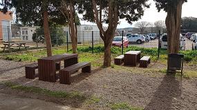 Foto de Martín Mena suministra al Ajuntament de Cardedeu mesas de picnic Calero fabricadas en plástico reciclado 100%