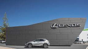 Foto de Isopan aplica su fachada ventilada ARK Wall en un concesionario de Lexus en Faro