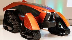 Foto de Kubota muestra un prototipo de tractor 'inteligente' y eléctrico