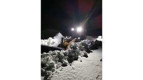Foto de Las cargadoras de neumáticos Case luchan contra la nieve en el círculo polar ártico