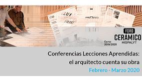 Foto de Nuevo ciclo de Conferencias de ´Lecciones Aprendidas: el arquitecto cuenta su obrá