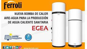 Foto de Nueva bomba de calor aire-agua Egea de Ferroli para la producción de ACS