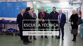 Foto de El director de Fenercom visita la Escuela Técnica de Agremia