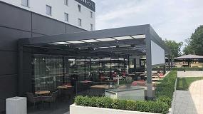 Foto de Las soluciones de Markilux en un restaurante de Amsterdam y un hotel de Polonia