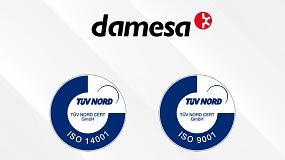 Foto de Damesa renueva los certificados ISO 9001:2015 e ISO 14001:2015