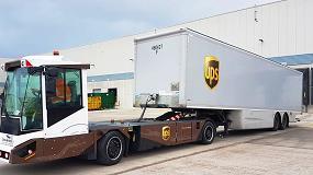 Foto de UPS prueba los vehículos eléctricos y autónomos Gaussin para mover contenedores