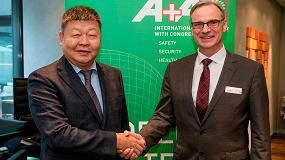 Foto de Acuerdo entre CTCA y Messe Düsseldorf para celebrar la feria de seguridad CIOSH en Shangái