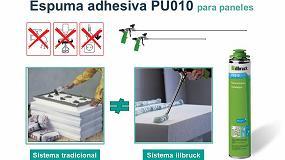 Foto de Adhesivo de espuma PU illbruck, instantáneo, para el pegado de paneles acústicos y de aislamiento