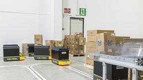 Foto de 12 AGVs Weasel de SSI Schaefer optimizan el transporte interno en Escubedo