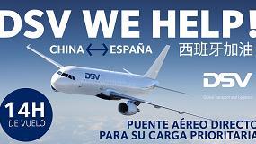 Foto de DSV abre un puente aéreo directo China/España de 14 horas de vuelo para carga prioritaria durante la crisis COVID-19