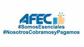 Foto de Afec reclama que el sector sea considerado esencial y garantizar la continuidad de la cadena de cobros y pagos
