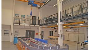 Foto de La Universidad Técnica de Hamburgo forma nuevos ingenieros de logística con puentes grúa ABUS