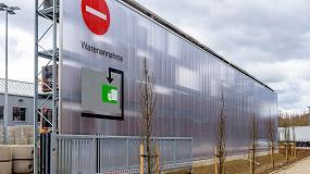 Foto de Kraft Baustoffe: almacenamiento exterior con techo y aislamiento acústico