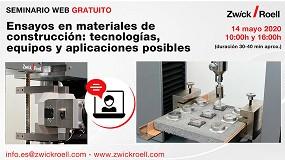 Foto de Próximo seminario online de ZwickRoell sobre ensayos en materiales de construcción