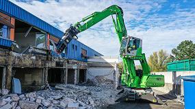 Foto de Máxima versatilidad en la obra gracias al equipo móvil de demolición 825 E-Series de Sennebogen