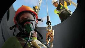 Foto de Equipos de protección respiratoria con línea de aire comprimido a flujo constante