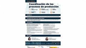 Foto de Tercera convocatoria del curso online gratuito 'Coordinación de los procesos de producción' el 25 de junio