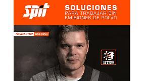 Foto de Spit edita un nuevo catálogo con todas las soluciones para trabajar sin emisiones de polvo