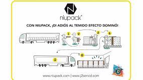 Foto de Niupack, una sencilla solución para evitar el balanceo y vuelco de la mercancía