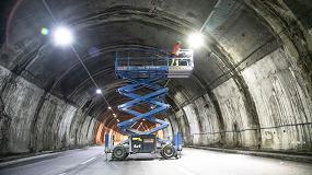 Foto de 32 plataformas de tijera todoterreno Genie contribuyen a finalizar el Túnel Morandi durante el confinamiento