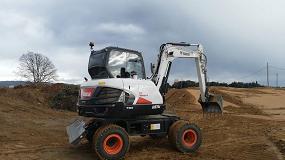 Foto de Excavadora de ruedas Bobcat E57W: velocidad, estabilidad, visibilidad y potencia