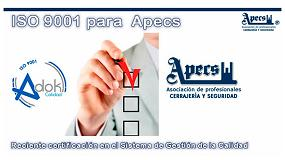 Foto de Apecs recibe la certificación ISO 9001 por su Sistema de Gestión de la Calidad