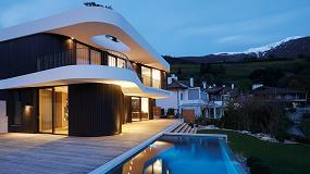 Foto de Swisspacer en los ventanales de una vivienda unifamiliar en Tirol del Sur