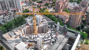 Foto de Décima grúa Liebherr 1000 EC-H 40 High-Top que se entrega para el proyecto Grand Paris Express en los últimos dos años