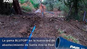 Foto de Tubería Blutop de Saint-Gobain PAM en la nueva red de abastecimiento de Santa Ana la Real