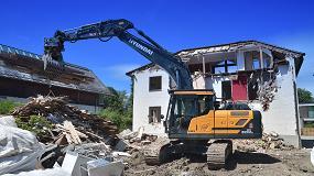 Foto de La empresa alemana Holzer Tiefbau disfruta de las ventajas de la nueva excavadora Hyundai HX220AL