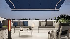 Foto de markilux ofrece un calefactor independiente para terrazas y balcones