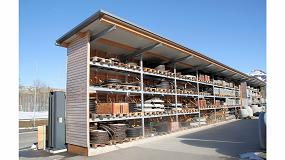 Foto de Almacén de materiales de construcción robusto y resistente a la intemperie