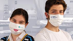 Foto de Miguélez fabrica mascarillas reutilizables según norma UNE
