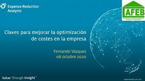 Foto de AFEB y Expense Reduction Analysts presentan las claves para mejorar la optimización de costes en la empresa