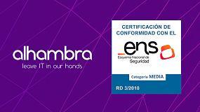 Foto de Alhambra IT consigue la certificación de seguridad ENS