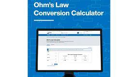 Foto de La calculadora en línea de la ley de Ohm de Mouser Electronics reduce el tiempo de diseño