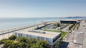 Foto de Cubiertas eficientes en los edificios anexos a la terminal de pasajeros del Puerto de Lisboa