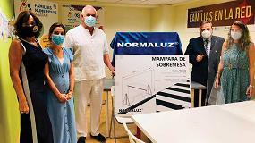 Foto de Normaluz dona 4.000 mamparas para proteger a profesionales contra el coronavirus