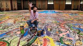 Foto de Sacha Jafri crea el lienzo más grande del mundo con pintura donada por AkzoNobel