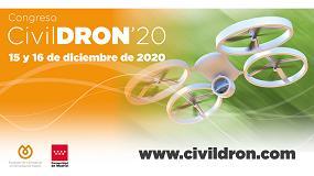 Foto de CivilDRON'20, el mayor congreso sobre aplicaciones civiles de drones, se celebrará el 15 y 16 de diciembre en formato virtual