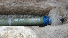 Foto de Tubería PAM Irrigal en la renovación de la red de riego de la Comunidad de Regantes A.P.A.C. de Mequinza (Zaragoza)
