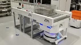 Foto de Transporte rápido y seguro por las plantas de producción: Philips automatiza el transporte de materiales con unidades AMR de Omron
