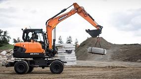 Foto de Doosan lanza la nueva excavadora de ruedas DX57W-7 de Fase V